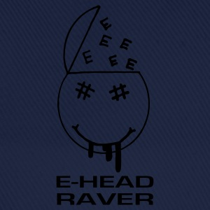 E Head Raver Smiley Face - Baseball Cap