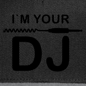 Schwarz I am your DJ T-Shirts - Snapback Cap
