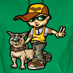 bboy and his dog - Sweat-shirt à capuche Premium pour hommes
