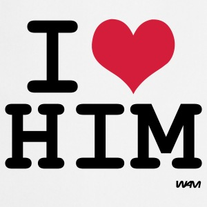 Wit i love him by wam T-shirts - Keukenschort