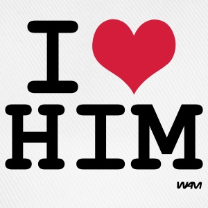 Wit i love him by wam T-shirts - Baseballcap