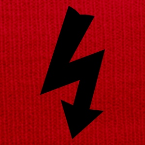 Red Electricity Symbol Women's T-Shirts - Winter Hat