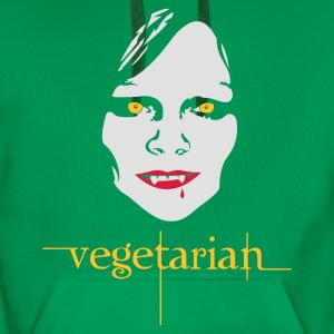 Grass green vegetarian vampire Women's T-Shirts - Men's Premium Hoodie