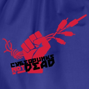 Royalblau Cyberpunks not dead T-Shirts - Turnbeutel