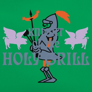 Verde muschio Knight of the holy grill (Txt, 2c) T-shirt - Borsa retrò