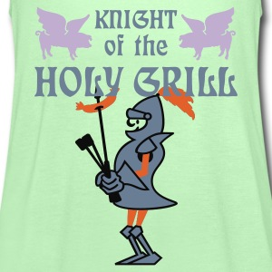Vert mousse Knight of the holy grill (Txt, 2c) T-shirts - Débardeur Femme marque Bella