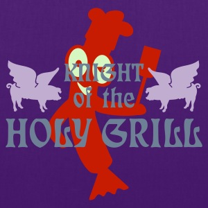 Indaco Knight of the holy grill (Txt, 2c) T-shirt - Borsa di stoffa