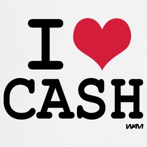 Wit i love cash by wam T-shirts - Keukenschort