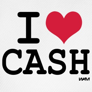 Wit i love cash by wam T-shirts - Baseballcap