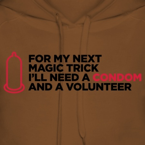 Magic Trick Condom (ENG, 2c) - Sweat-shirt à capuche Premium pour femmes