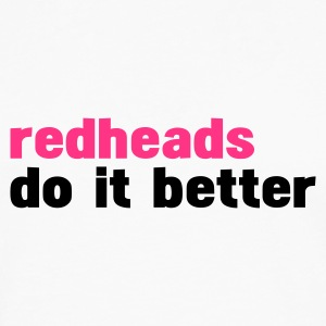 Vit redheads do it better T-shirts - Långärmad premium-T-shirt herr