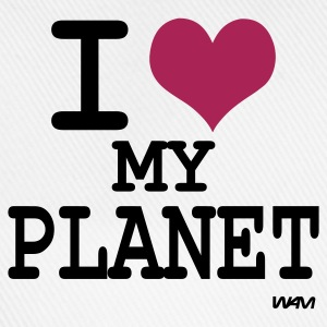 Bianco i love my planet by wam T-shirt - Cappello con visiera