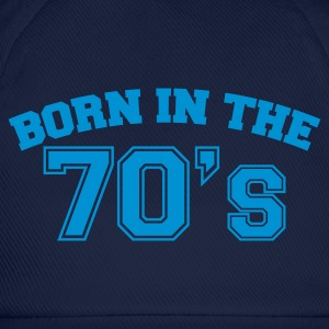 Indigo Born in the 70s T-Shirts - Baseballkappe