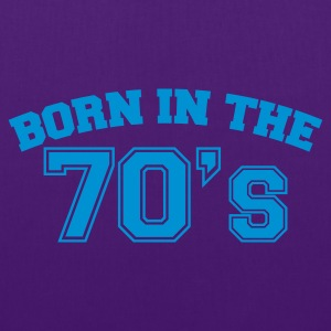 Indigo Born in the 70s T-Shirts - Stoffbeutel