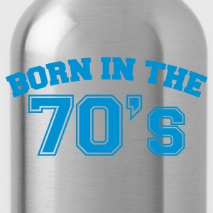 Indigo Born in the 70s T-Shirts - Trinkflasche