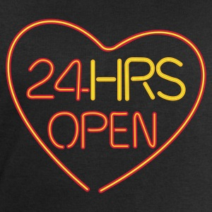 Neon: 24 HRS open heart :-: - Men's Sweatshirt by Stanley & Stella