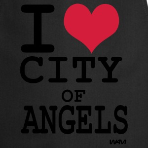 Schwarz i love city of angels (los angeles)  by wam T-Shirts - Kochschürze