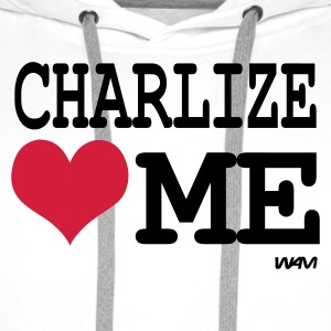 Blanc charlize loves me by wam T-shirts - Sweat-shirt à capuche Premium pour hommes