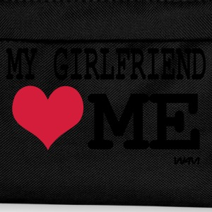 Noir my girlfriend loves me T-shirts - Sac à dos Enfant