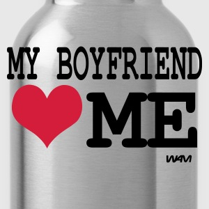 Zwart my boyfriendl oves me by wam T-shirts - Drinkfles