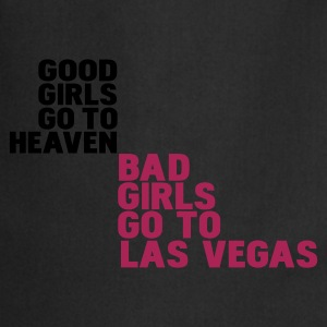 Negro bad girls go to las vegas Camisetas - Delantal de cocina
