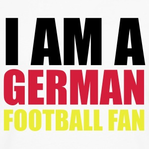 Weiß I am a german football fan © T-Shirts - Premium langermet T-skjorte for menn