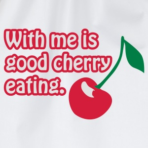Weiß Cherry eating © T-Shirts - Gymtas