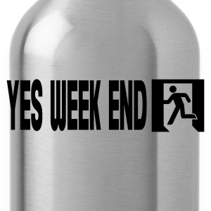 Noir yes week end T-shirts - Gourde