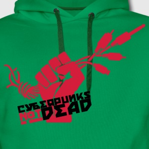 Bottlegreen Cyberpunks not dead T-Shirts - Männer Premium Hoodie