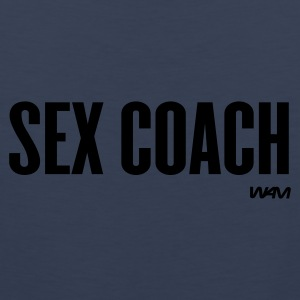 Navy sex coach by wam Women's T-Shirts - Men's Premium Tank Top
