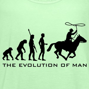 evolution_cowboy_b T-shirts - Vrouwen tank top van Bella