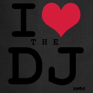 Negro i love the dj by wam Camisetas - Delantal de cocina
