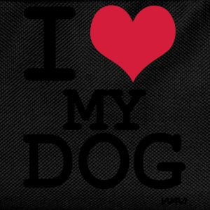 Svart i love my dog by wam T-shirts - Ryggsäck för barn
