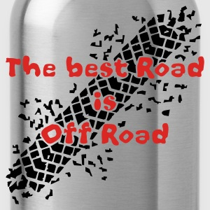 best road is offroad - T-Shirt braun  - Trinkflasche