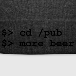 Brown Coder Pub Beer (1c, NEU) Men's T-Shirts - Winter Hat