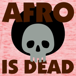 Gelb Afro is dead © T-Shirts - Dame tanktop fra Bella