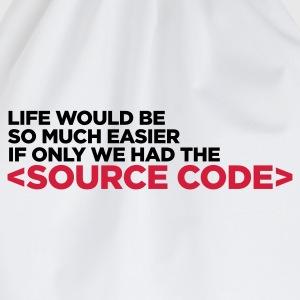 Life Source Code 1 (ENG, 2c) - Drawstring Bag