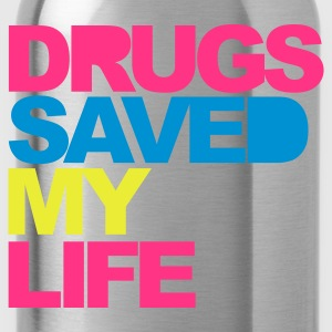 Negro Drugs Saved V2 Camisetas - Cantimplora