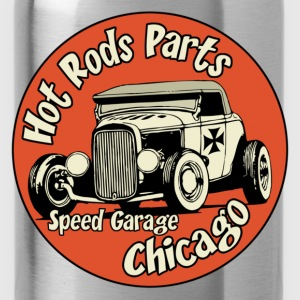 hot rods parts t-shirt - Gourde