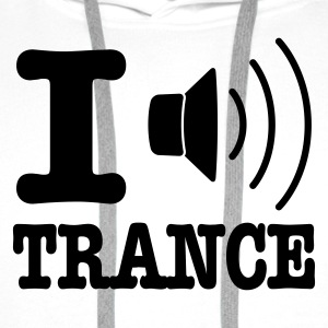 Wit I speaker trance / I love trance T-shirts - Mannen Premium hoodie