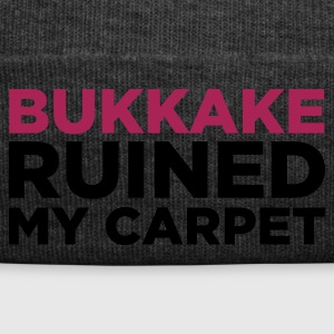 Marrone nobile Bukkake Ruined my Carpet 2 (2c) T-shirt - Cappellino invernale