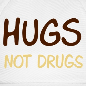 Sand beige hugs not drugs Men's T-Shirts - Baseballcap