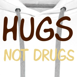 Sand beige hugs not drugs Men's T-Shirts - Premiumluvtröja herr