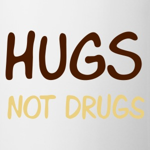 Sand beige hugs not drugs Men's T-Shirts - Kop/krus