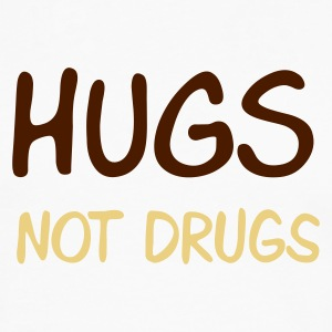 Sand beige hugs not drugs Men's T-Shirts - Långärmad premium-T-shirt herr