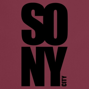Rosa scuro so new york city T-shirt - Grembiule da cucina