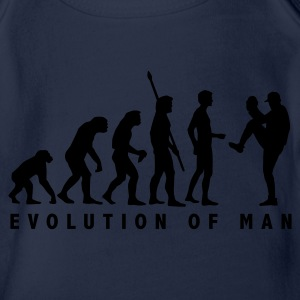 Cyan evolution_baseball_pitcher_1c Kids' Shirts - Organic Short-sleeved Baby Bodysuit