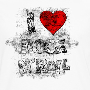 Blanc I LOVE ROCK N'ROLL T-shirts - T-shirt manches longues Premium Homme