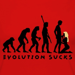 Rot evolution_sucks_b_2c T-Shirts - Frauen Premium Langarmshirt