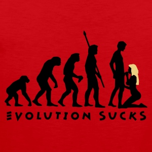 Rot evolution_sucks_b_2c T-Shirts - Männer Premium Tank Top